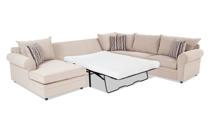 Venus 4 Piece Right Arm Facing Bob O Pedic Gel Full Sleeper Sectional