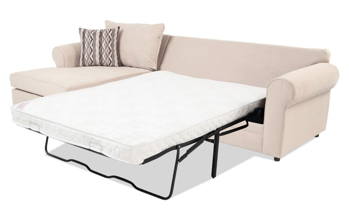 Venus 2 Piece Right Arm Facing Innerspring Sleeper Sectional