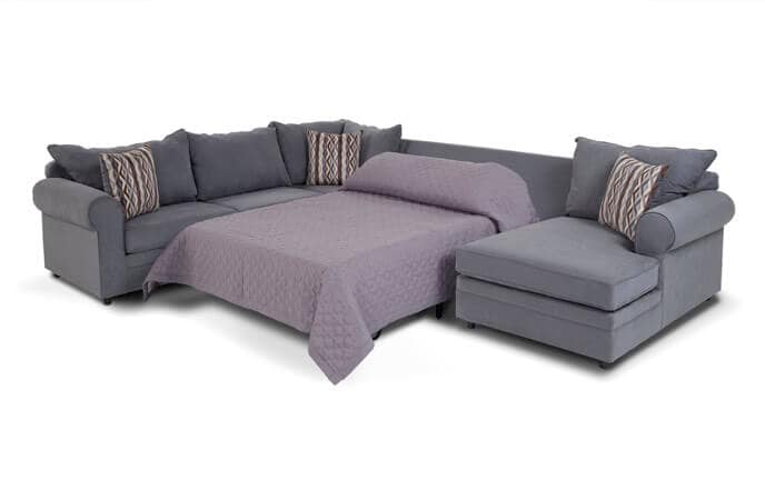 Venus 4 Piece Left Arm Facing Innerspring Full Sleeper Sectional