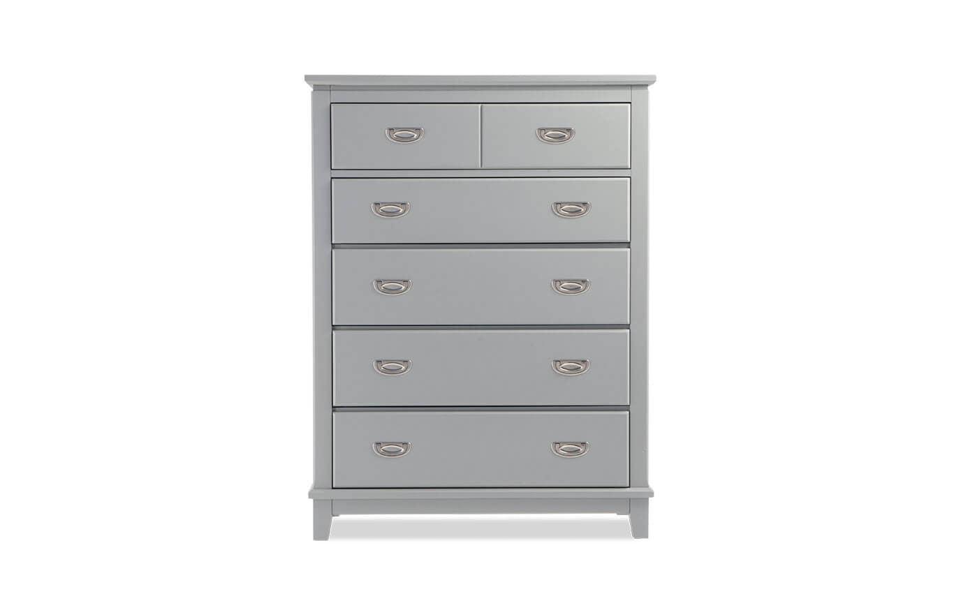 Chadwick Twin Gray 4 Piece Panel Bedroom Set