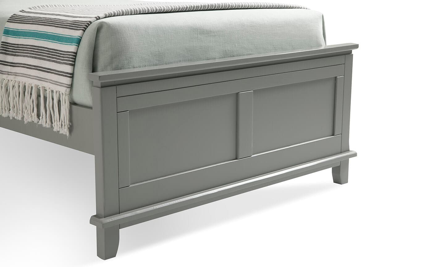 Chadwick Full Gray Panel Bed