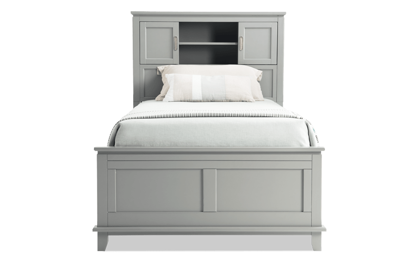 Chadwick Twin Gray Bookcase Bed