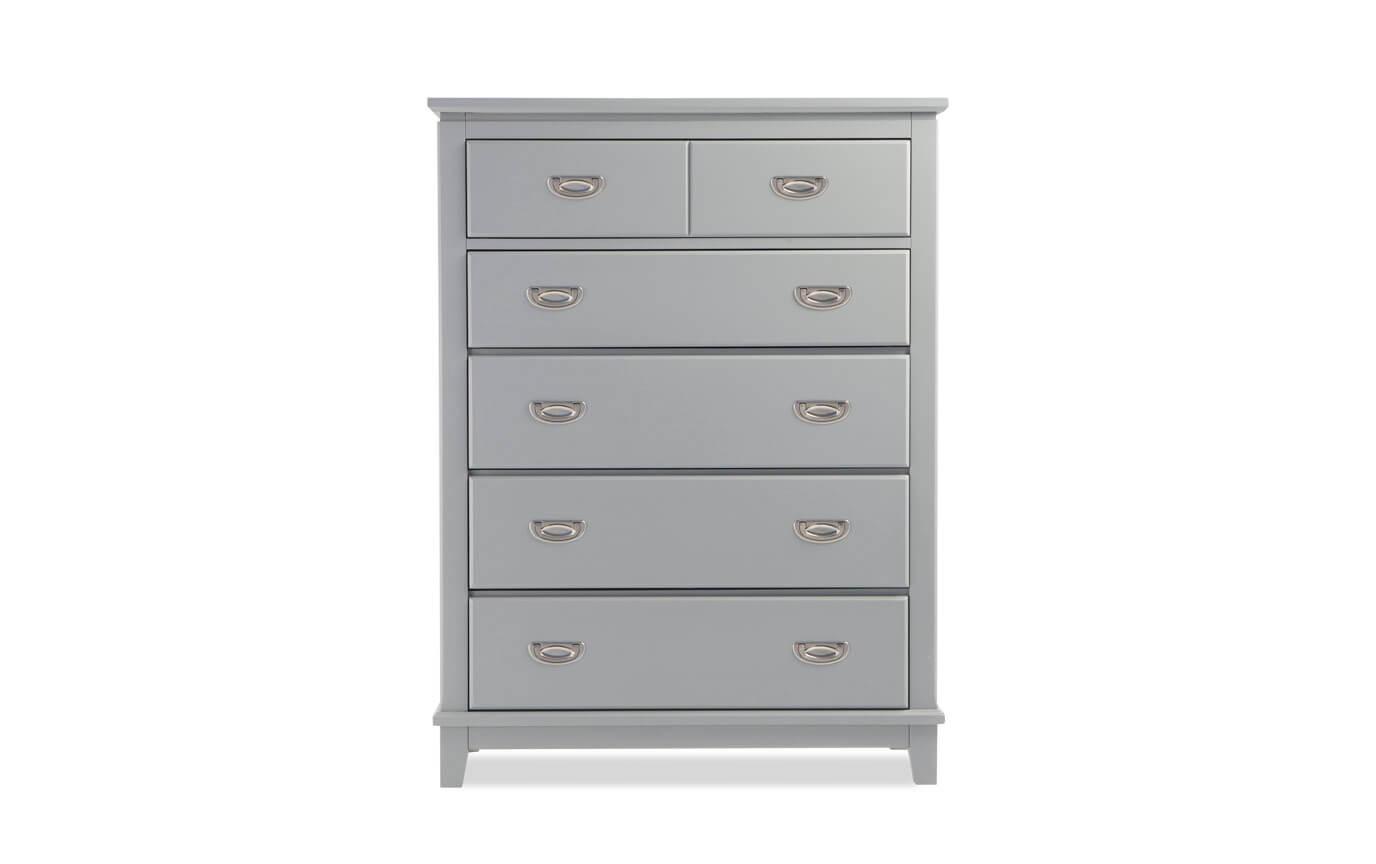 Chadwick Twin Gray Bookcase Bedroom Set