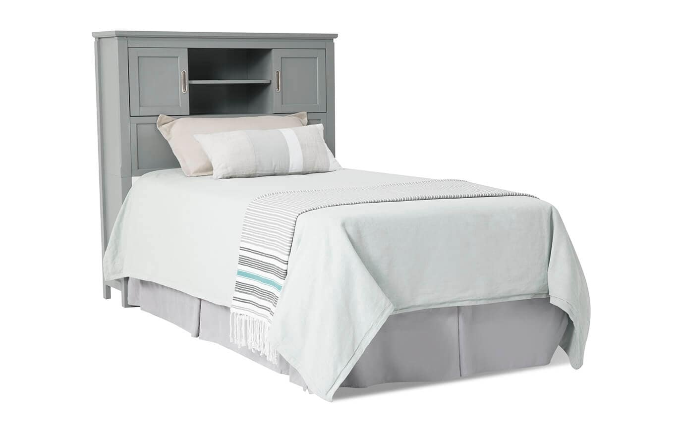 Chadwick Twin Gray Bookcase Bedroom Set With Desk