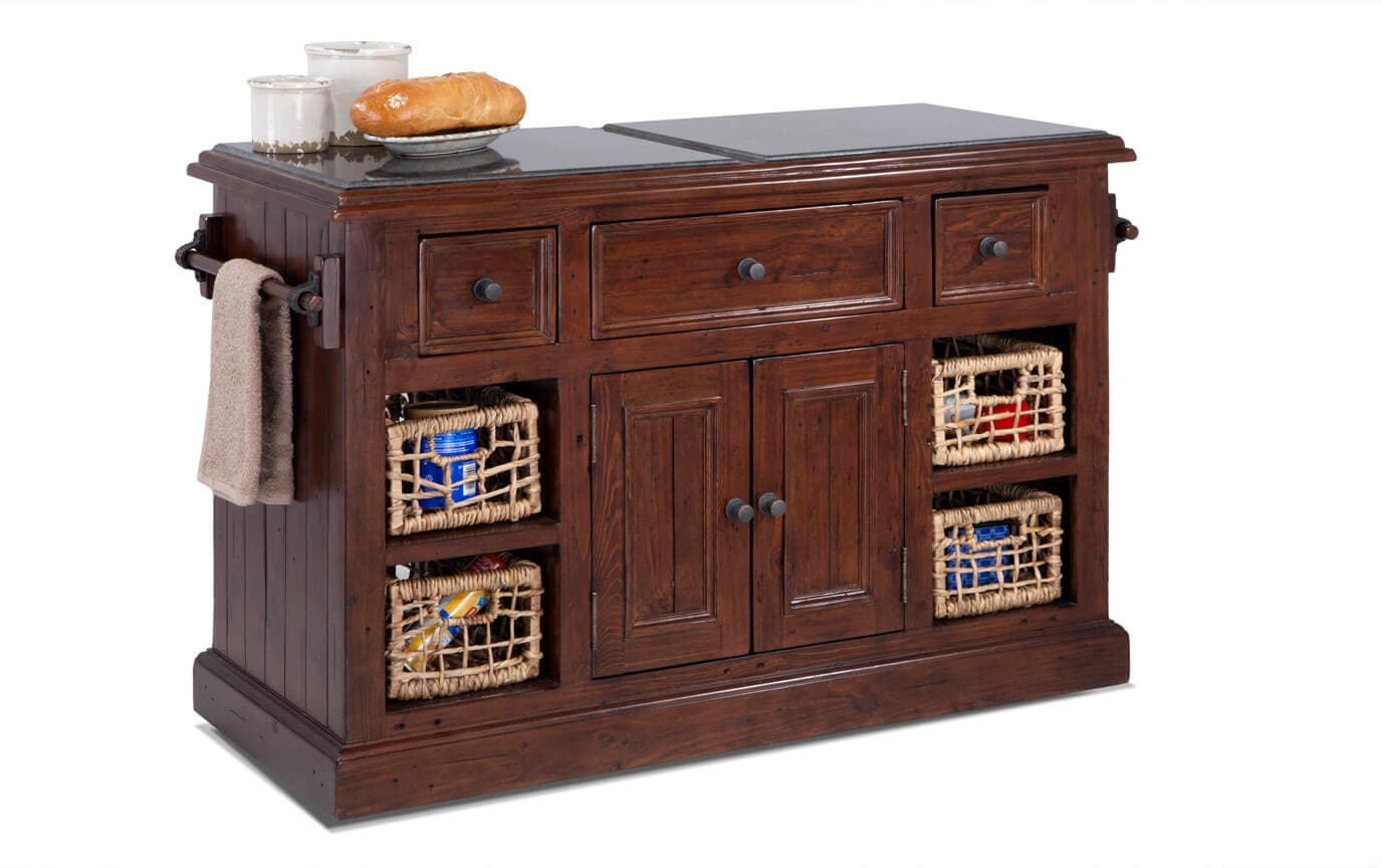 Large Park Ave Granite Top Kitchen Island
