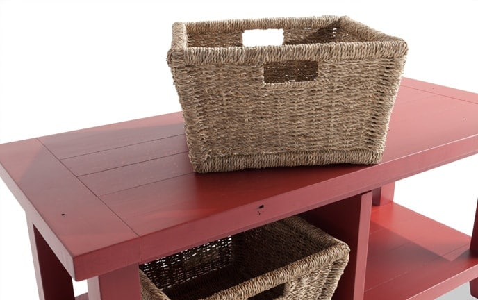 Blanket Basket Bench