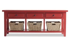 3 Basket Red Console Table