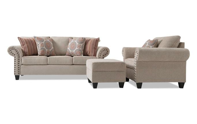 Artisan Sofa, Chair & Storage Ottoman
