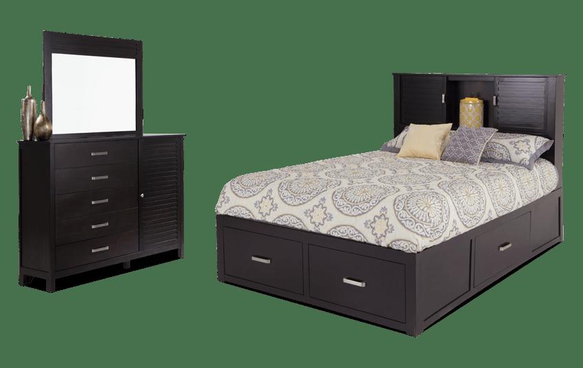 Dalton California King Espresso Storage Bedroom Set