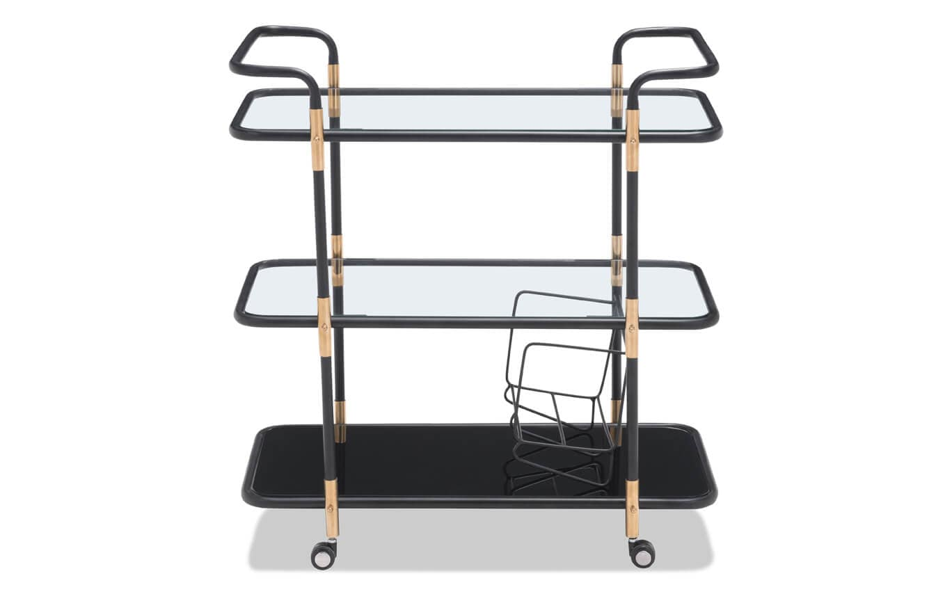 Secret Black & Gold Bar Cart