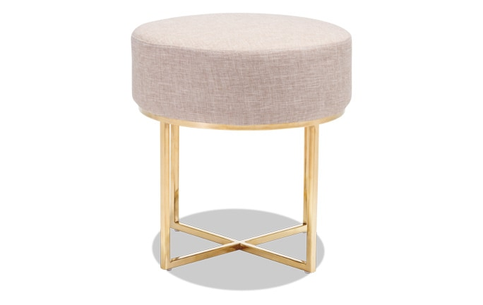 Bon Beige & Stainless Steel Stool