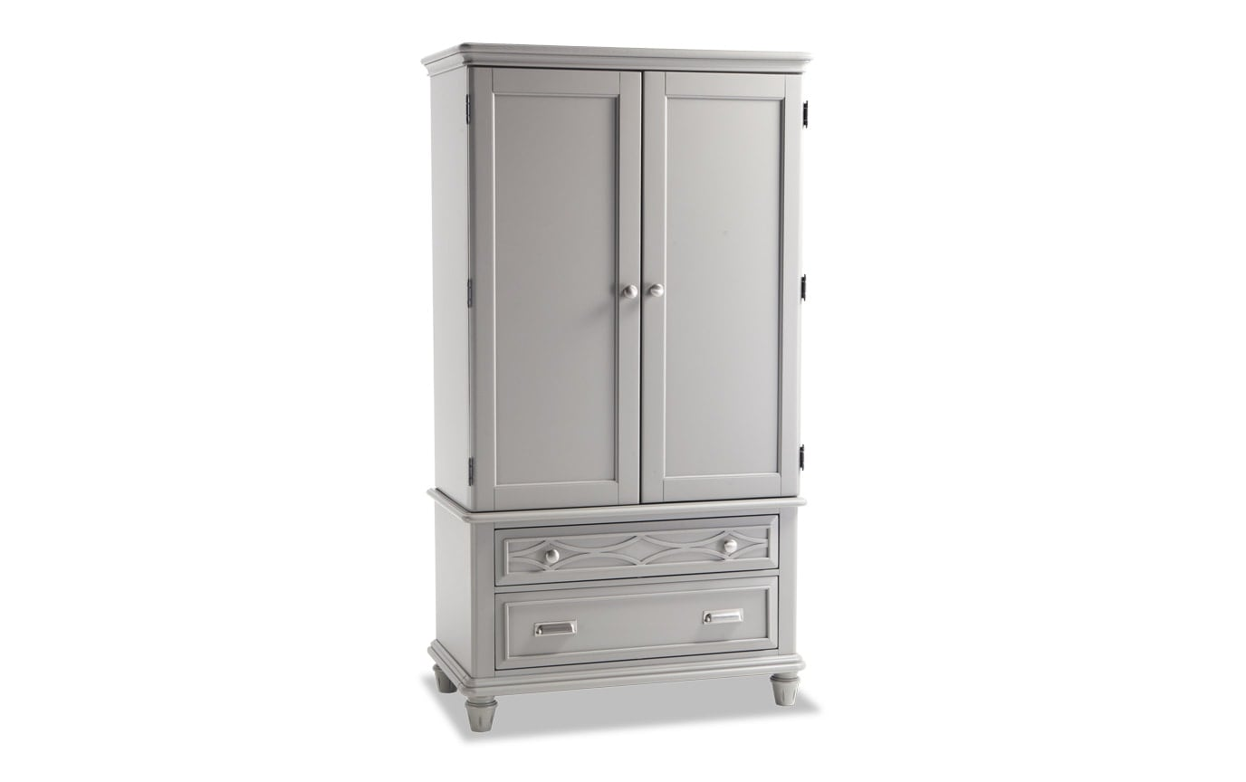 Mystic Bay Gray Wardrobe