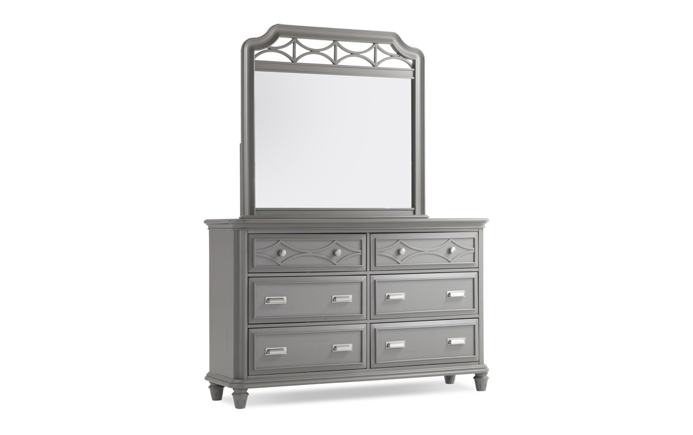 Mystic Bay Gray Dresser & Mirror