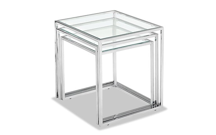 Pasos Chrome Nesting Tables
