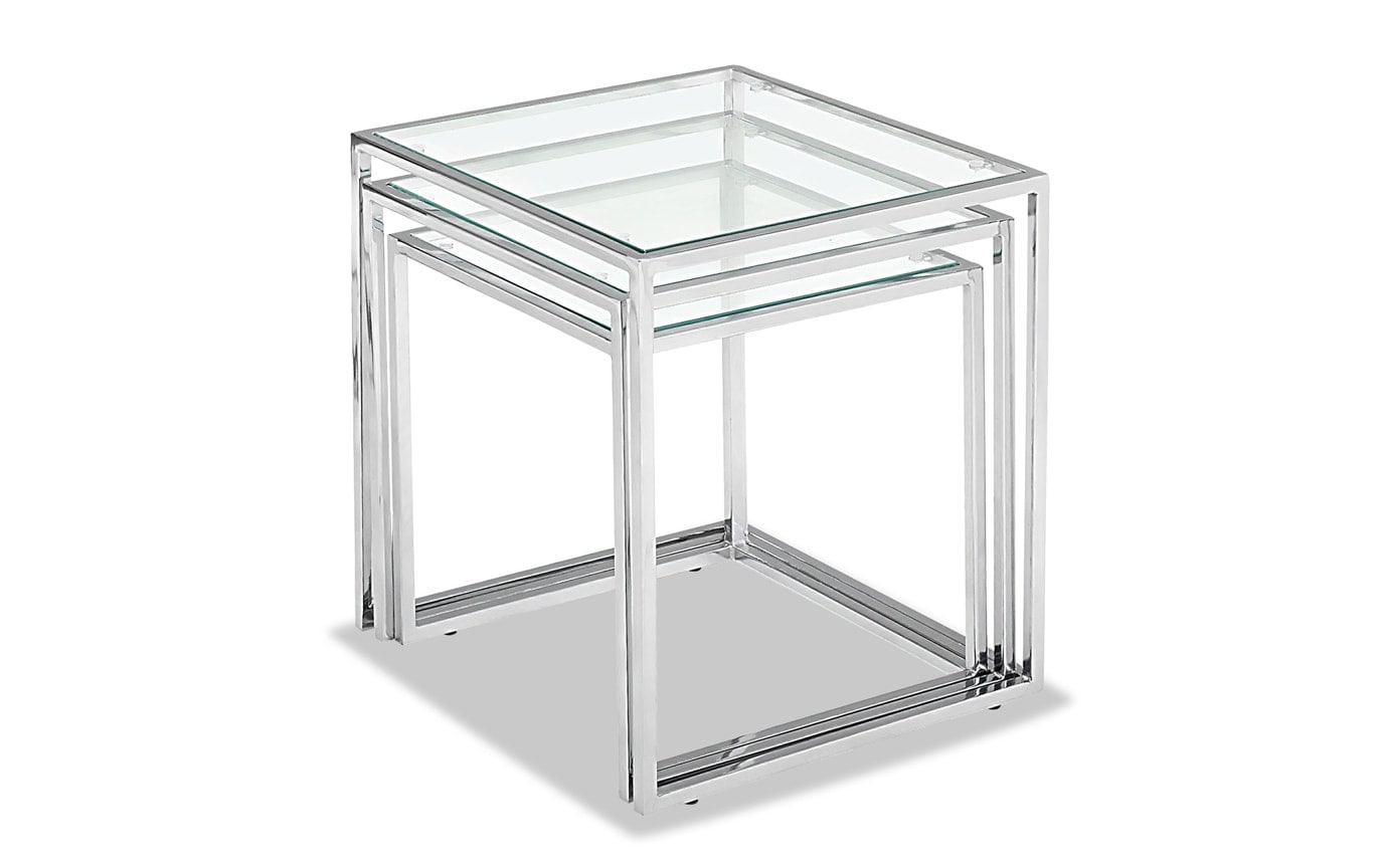 Pasos Chrome Nesting Tables