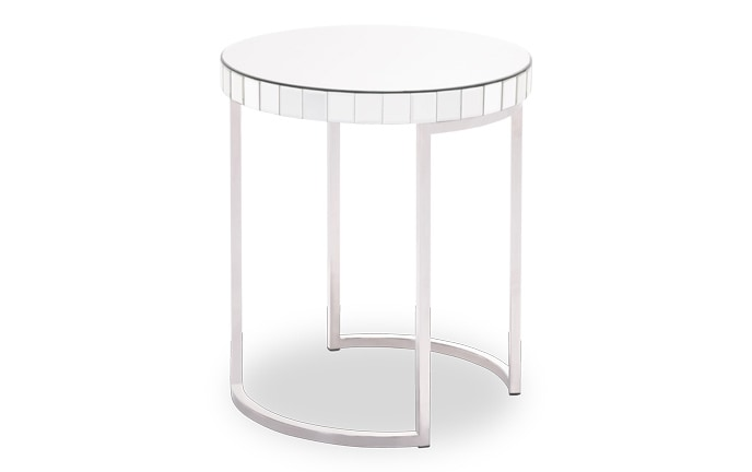 Mirrored Circular End Table