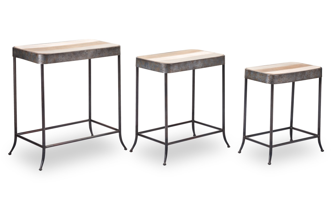 Set of 3 Multicolor Tables