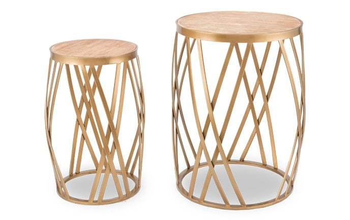 Set of 2 Criss Cross Tables