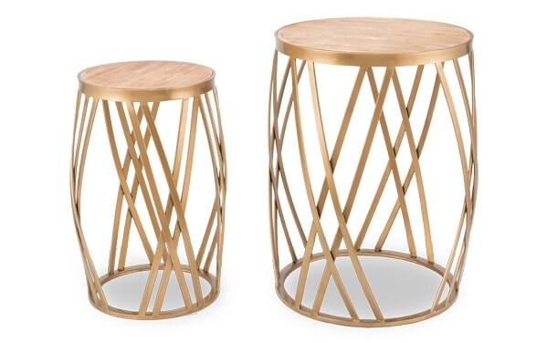 Set of 2 Criss Cross Tables
