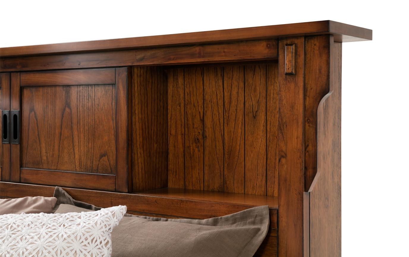 Mission Oak II California King Bookcase Storage Bed