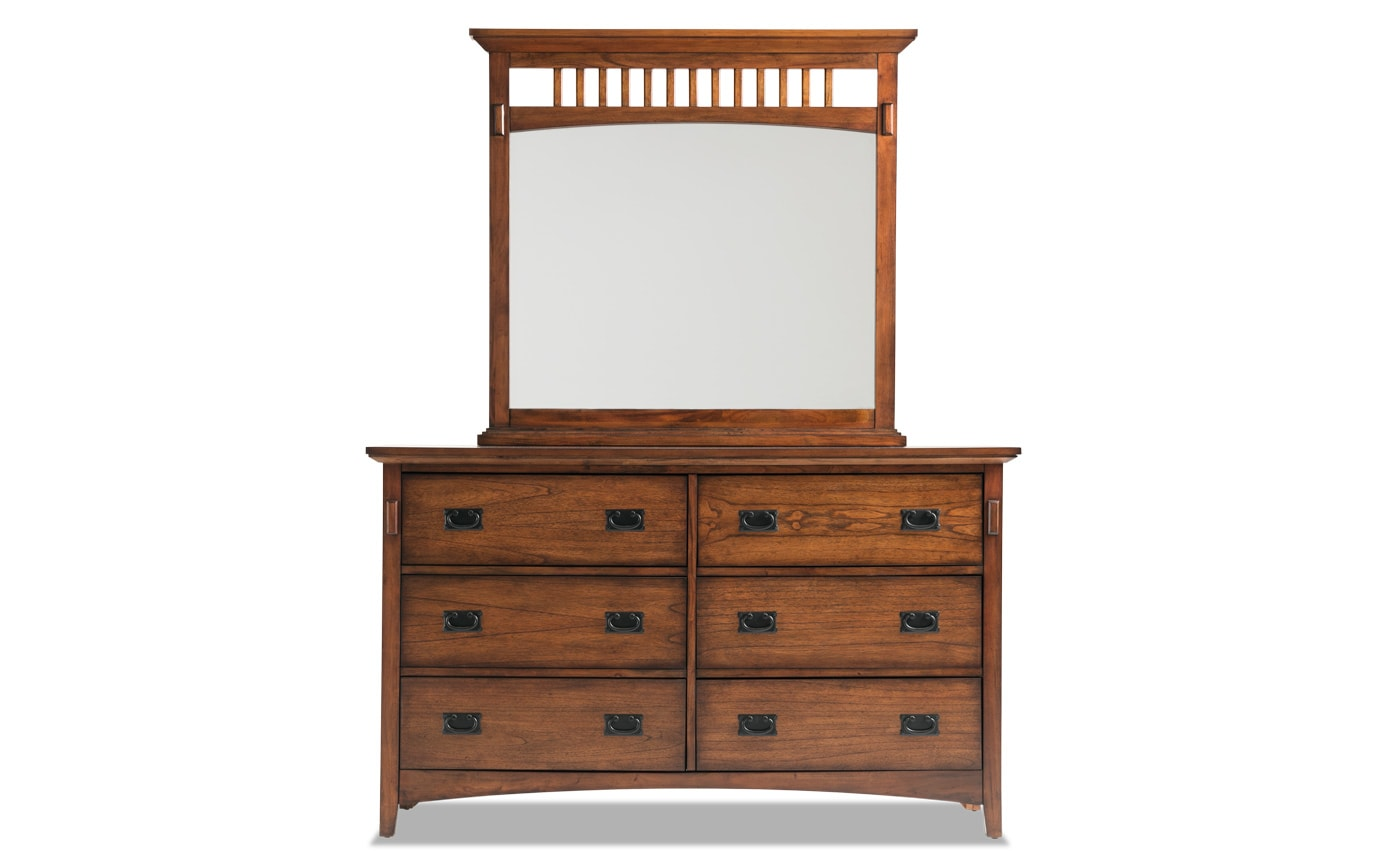 Mission Oak II Dresser & Mirror