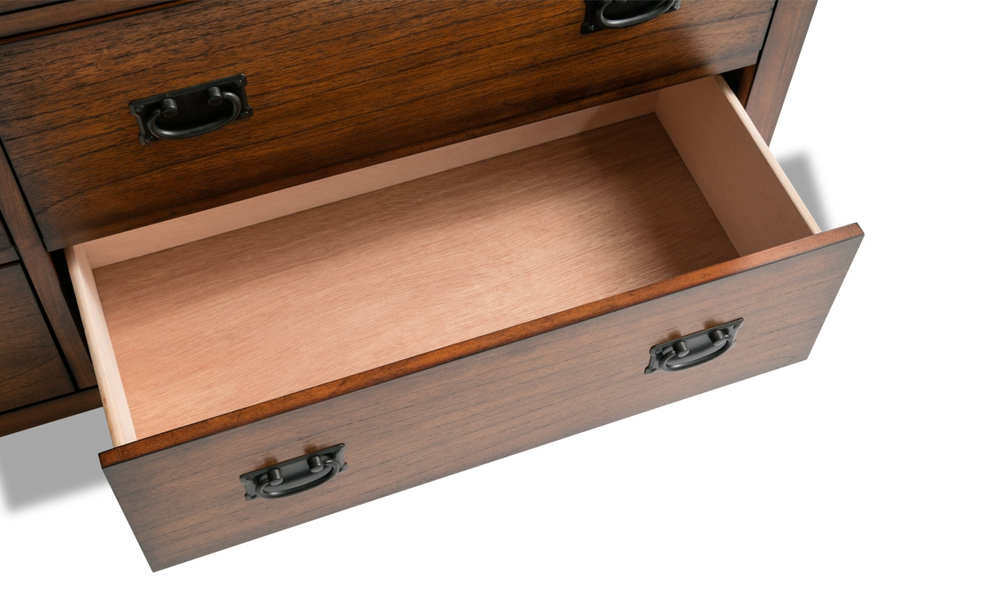 Mission Oak II Dresser & Mirror