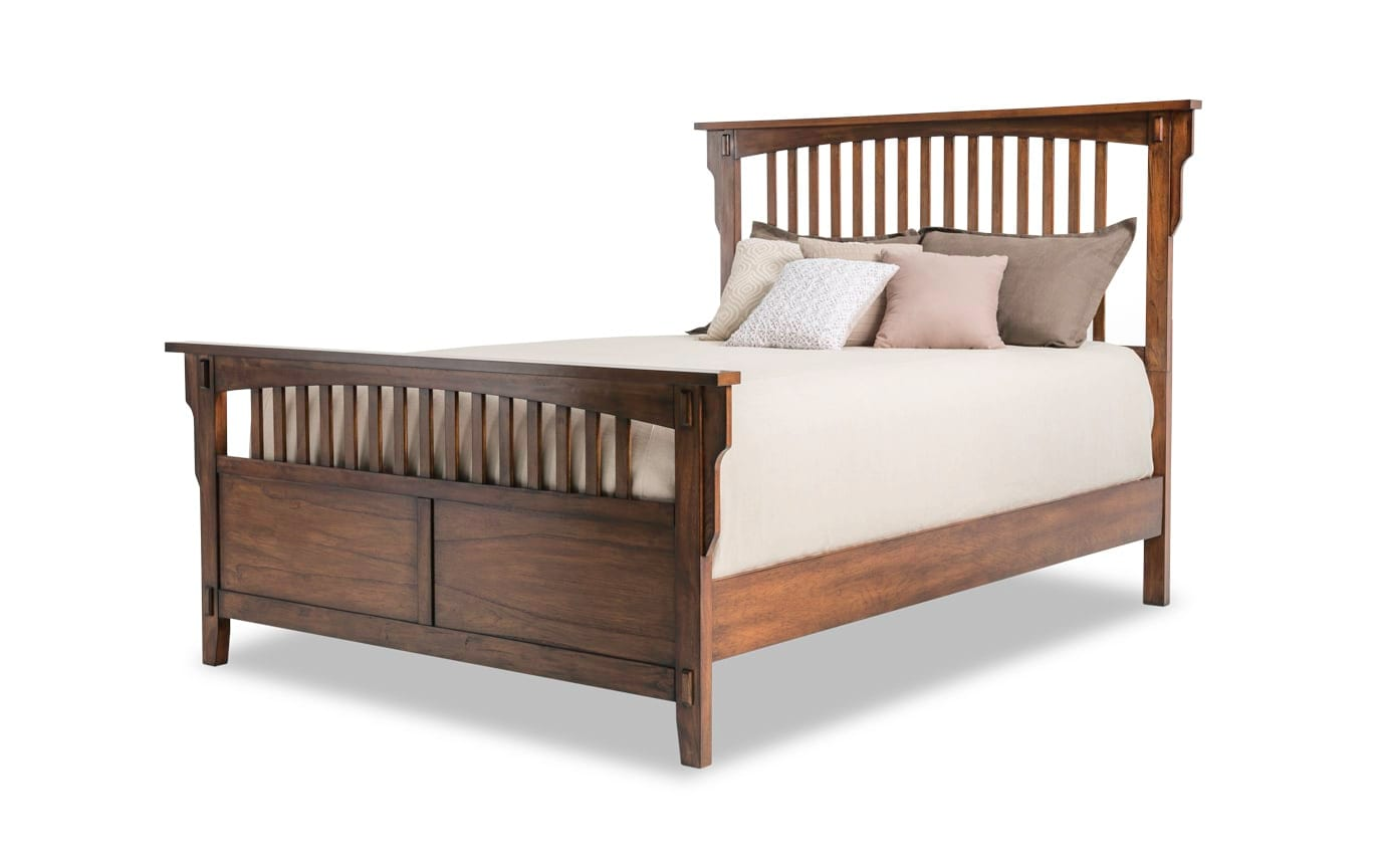 Mission Oak II Queen Panel Bed