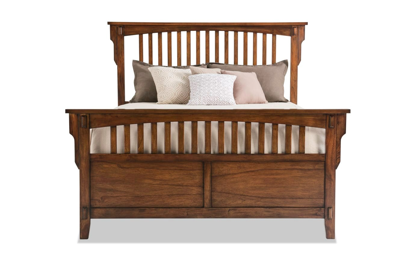 Mission Oak II Panel Bed