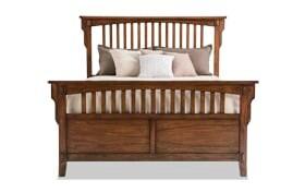 Mission Oak II Panel Bed