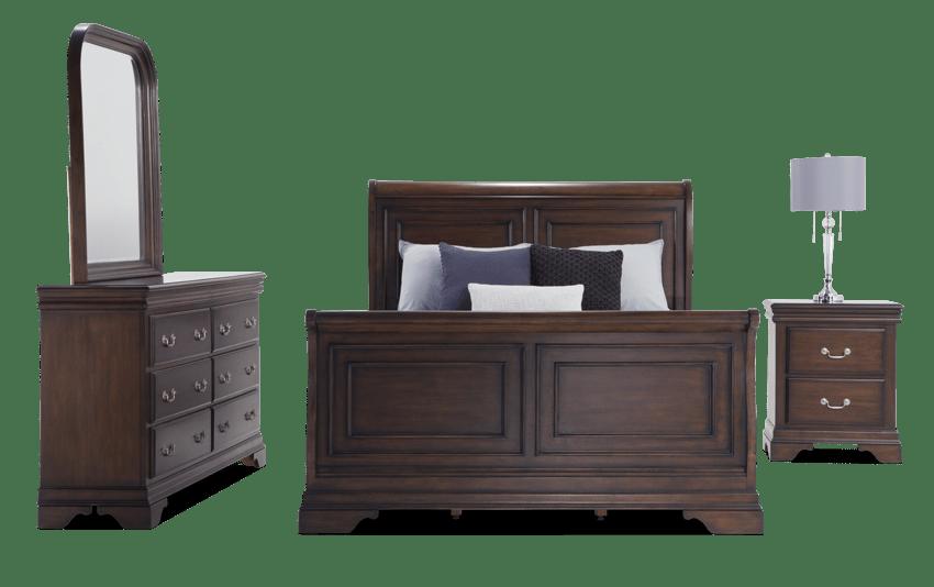 Louie Louie Queen Cherry Bedroom Set