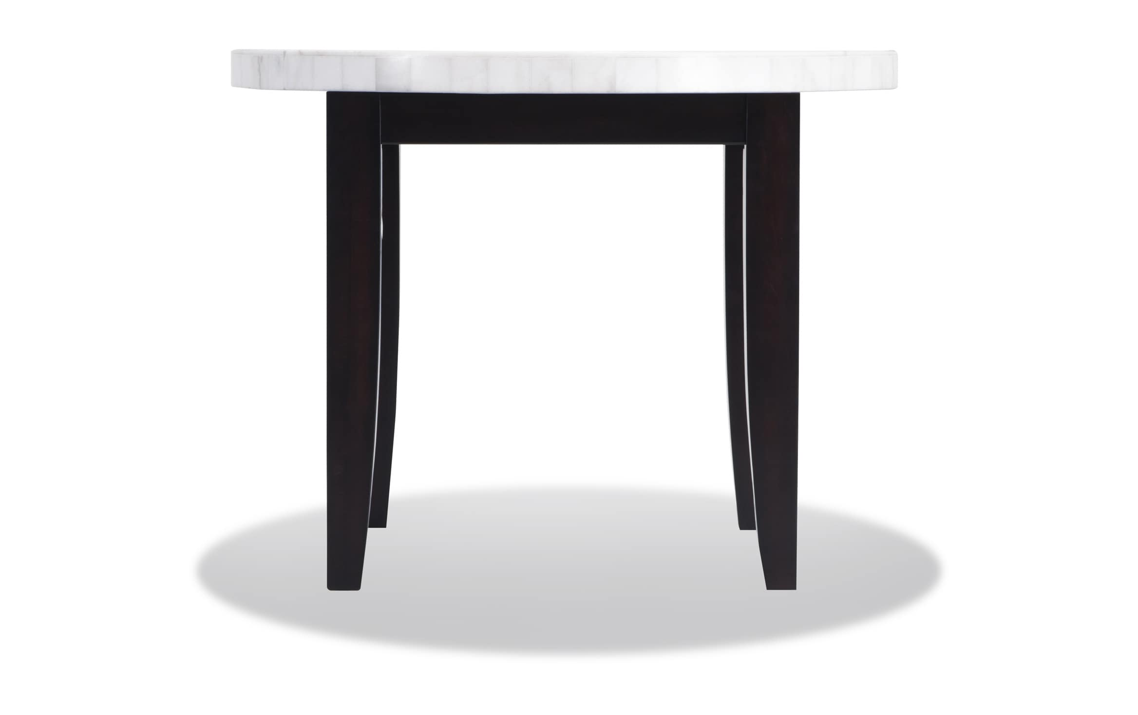 Montibello 40 White Marble Dining Table Bobs Com