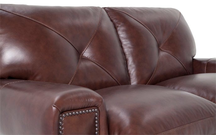 Kennedy Leather Loveseat