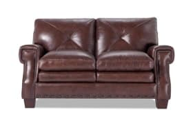 Kennedy Leather Brown Loveseat