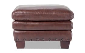 Kennedy Leather Ottoman