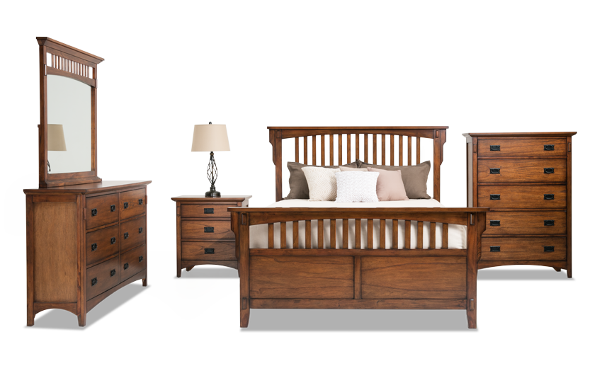 Mission Oak II Panel Bedroom Set