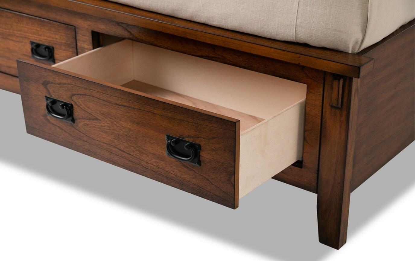Mission Oak II Queen Bookcase Storage Bed
