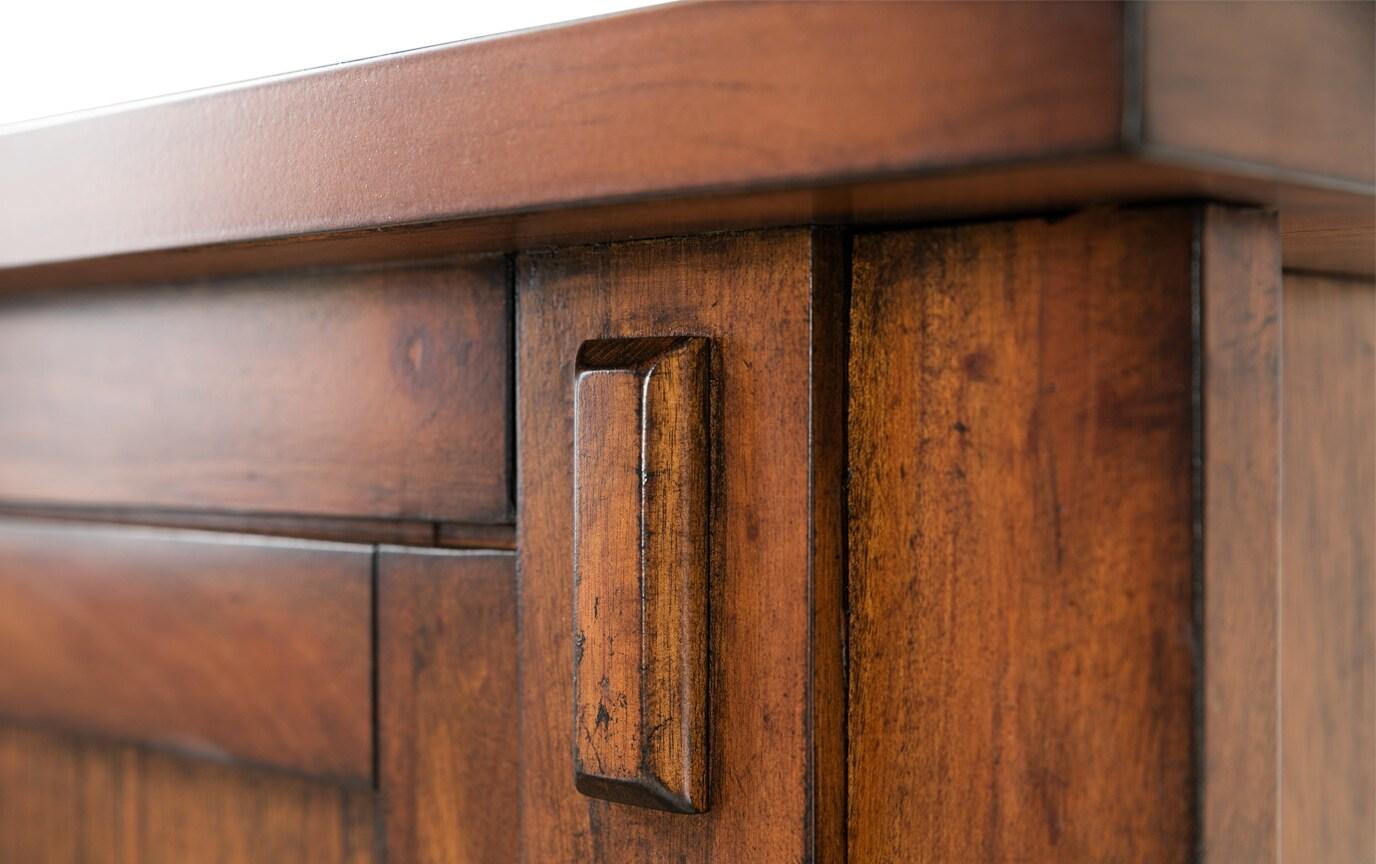 Mission Oak II King Bookcase Storage Bed