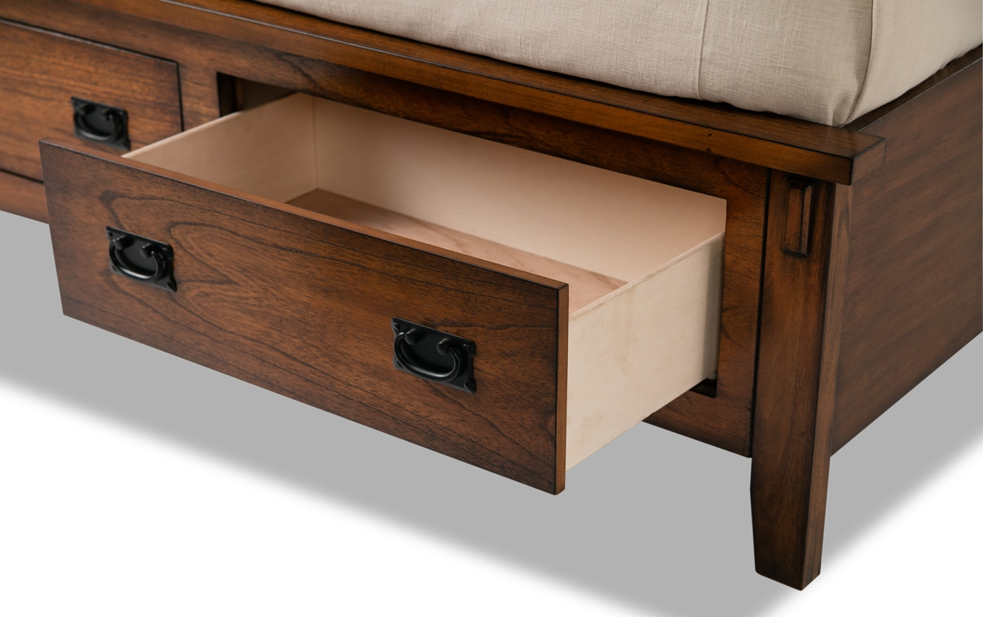 Mission Oak II Bookcase Storage Bed