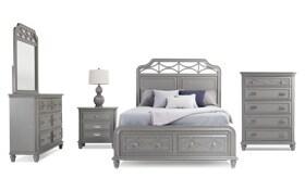 Mystic Bay Full Gray Storage Bedroom Set