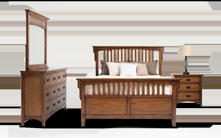 Mission Oak II King Panel Bedroom Set