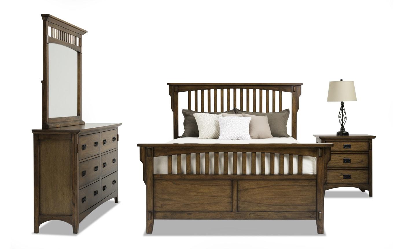 Mission Oak II Queen Panel Bedroom Set