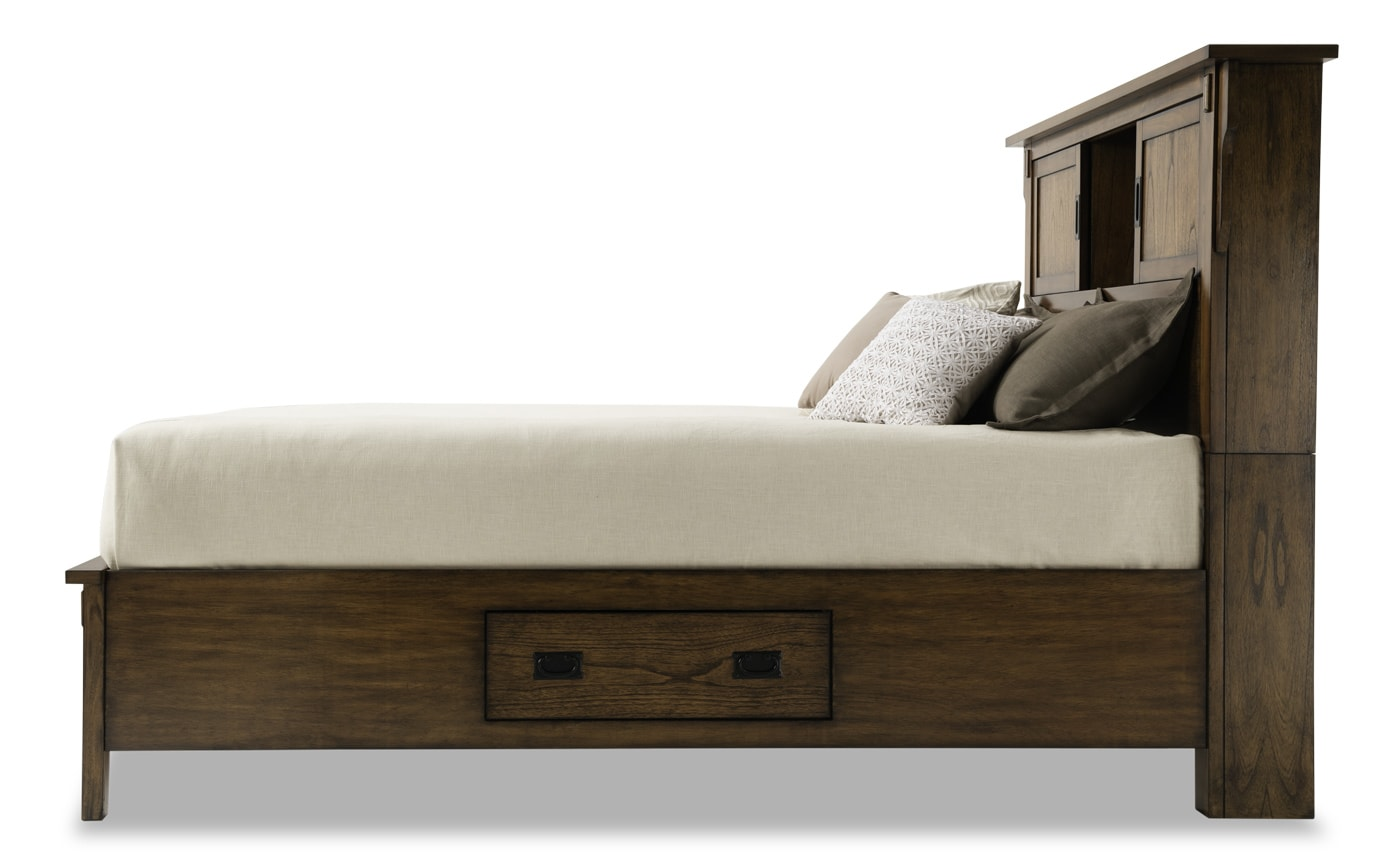Mission Oak II Full Storage Bedroom Set