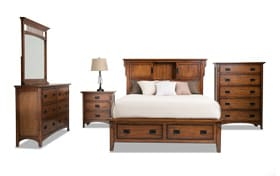 Mission Oak II King Storage Bedroom Set