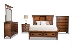 Mission Oak II Storage Bed with Dresser, Mirror, Chest & Nightstand