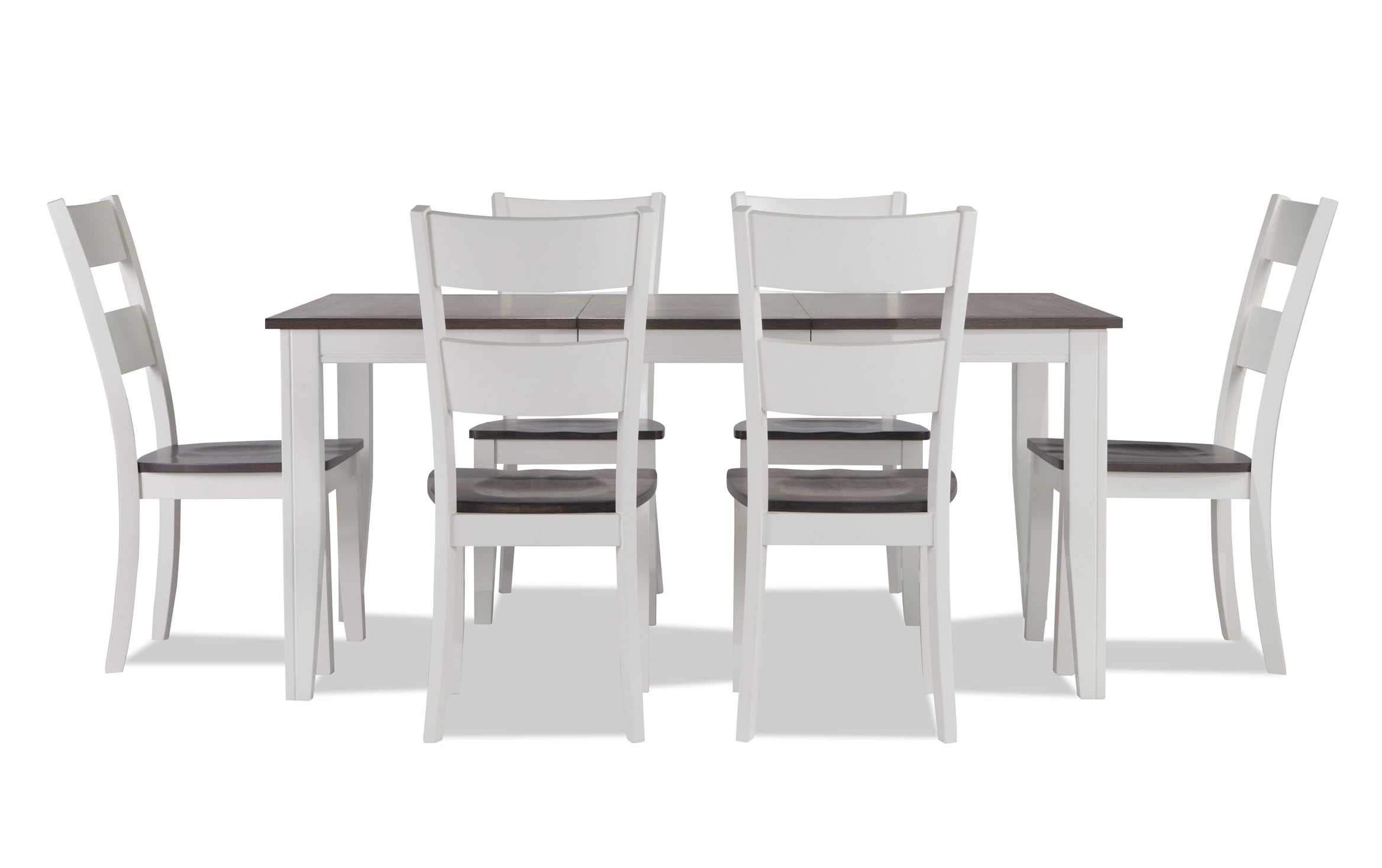 Blake Gray White 7 Piece Dining Set, Black And White Dining Room Set