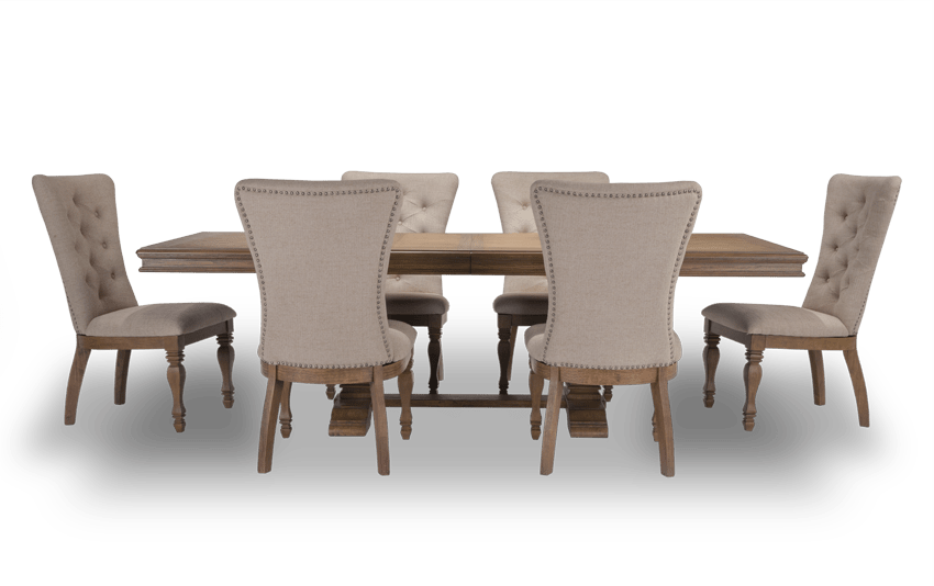 Riverdale 7 Piece Set with Upholstered Chairs
