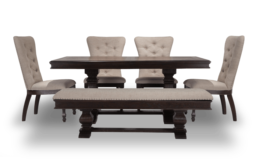 Riverdale 6 Piece Set With Upholstered Chairs U0026 Storage Bench