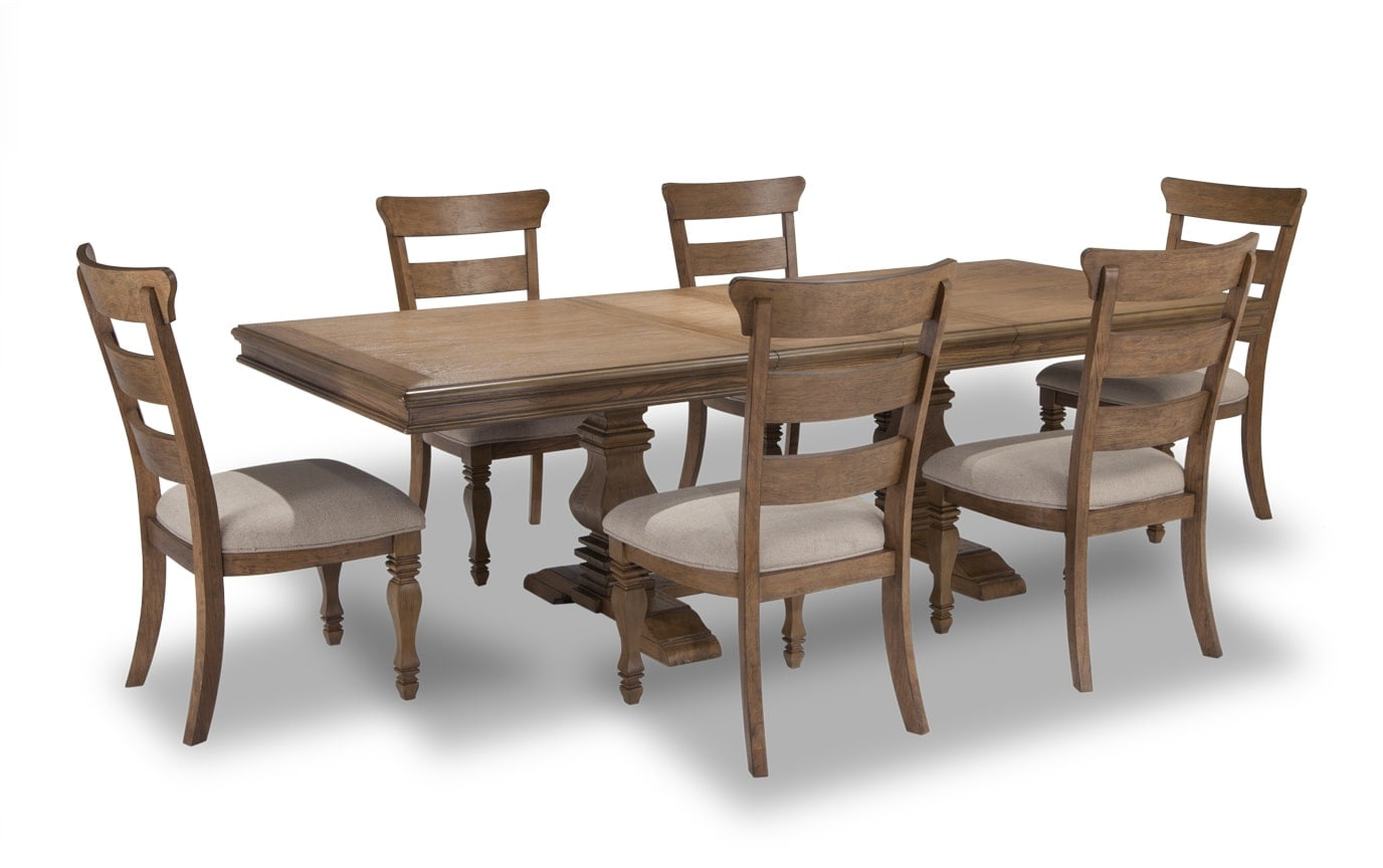Riverdale 8 Piece Dining Set with Curio