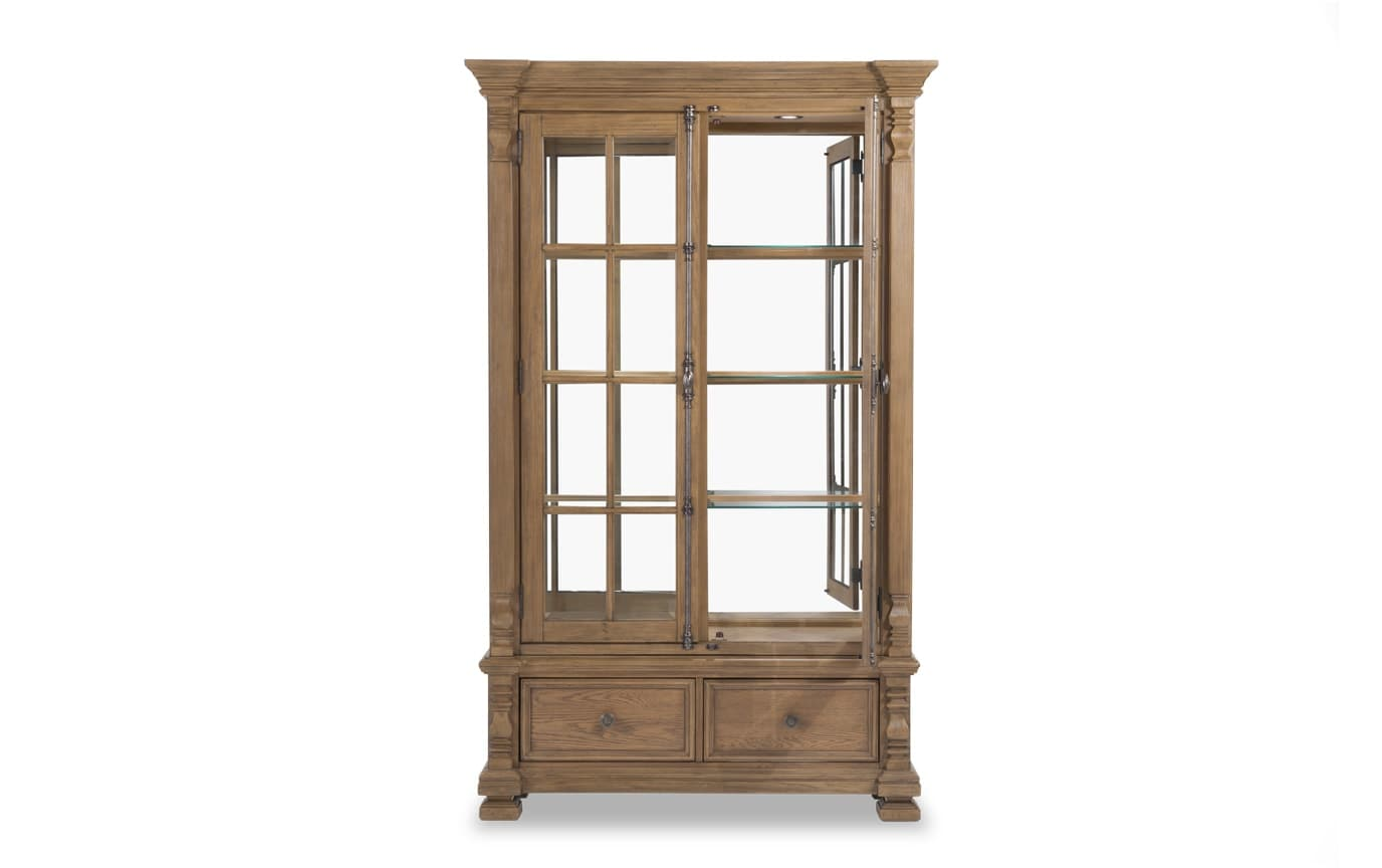 Riverdale 2 Piece Curio Cabinet