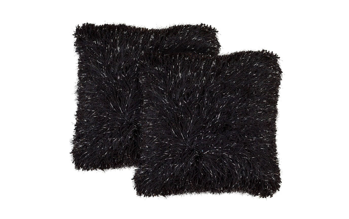 Set of 2 Sparkle Shag Pillows